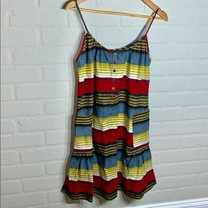 French Connection Dresses - French Connection EUC 0 striped sun dress pockets